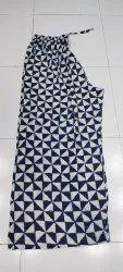 Cotton/Linen Big Size Printed Pants, Size: 48/54/62 Waist