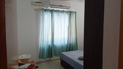 Applique work curtain