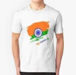 Customize Independence Day Event  T-shirt 120 Gsm