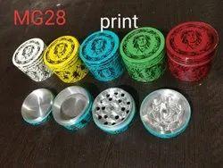 50 mm Bob Marley print smoking grinder