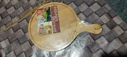 Wooden pizza plate