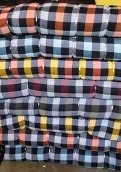 Cotton Gadda Check Fabric, Check/stripes, Multicolour