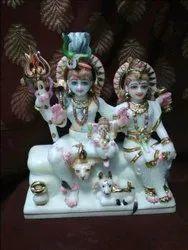 Temple Marble Shiv Parivar Statue