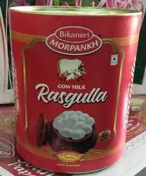 MORPANKH Rasgulla, Size Available: Regular, Packaging Type: Tin Container