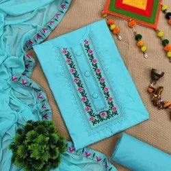 Simple Embroidery Dress Material