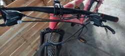 Pink Rose Black White Aluminium Bike, Size: 26 Inch
