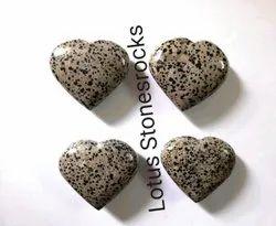 Dalmatian Jasper Hearts