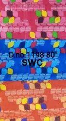 Multicolor 80 Inch Pigment Printed Roto Fabric, 75 Gsm