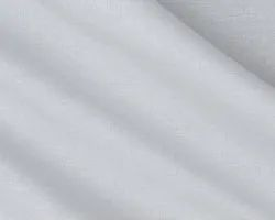 White 100% Linen Fabric Dyeable, GSM: 150-200