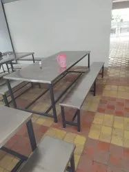 304 S S Top 8 Seater  MS Legs Dining Table