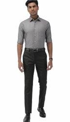 Full Sleeve Men Grey Formal Shirt