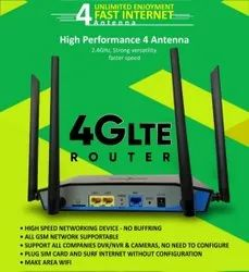 Active Pixel Wireless or Wi-Fi Wifi Router With 4g Sim Slot, 300mbps
