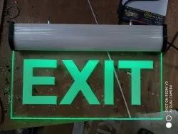 Aluminum LED Exit Glow Signs Board