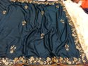 Classy art Chinon crape Fabric sarees