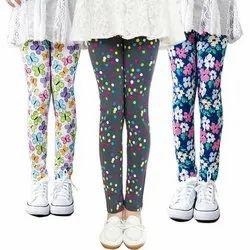 Cotton Churidar Kids Printed Leggings