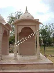 Stone Chatri With Curved Chajja 5 Feet