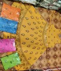 Cotton Multicolor Jaipuri Midi