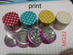 50 mm star print herb smoking grinder