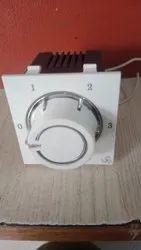 2 Modular White 5 Step Fan Regulator, Super