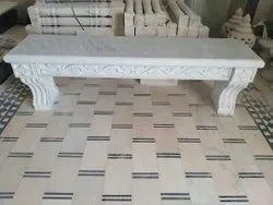 Indoor Square White Marble Articles, For Home, Size: 5 X 6 Feet