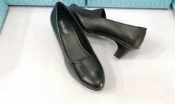 Female Plain Ladies Black Formal Shoes