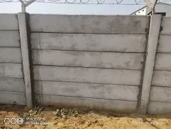 Precast Boundary Wall With Concertina Coil Fencing