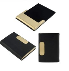 Personalize Business Card Holders For Employees Metal & Leather