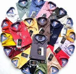 Multicolor Collar Neck Wud N Burg Men'S Cotton Printed Shirt, Handwash, Size: M To Xxl
