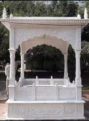 Marble Elephant Statue White Mazar Katera., For Exterior Decor