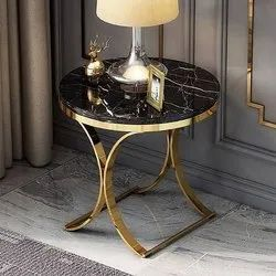 Golden Gold plated Iron Coffee Table, For Hotel and homes, Size: 24