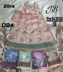Premium Net,Satin Multicolor Kids Wear Lehenga Choli, Size: 24-28-32-36