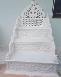 White Carved Marble Masjid Membrane