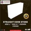 Straight kerb stone