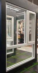 White Havey Dection Casement window upvc 1, Glass Thickness: 5 Mm