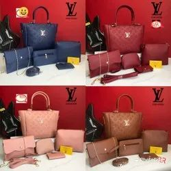 Handbags 8 Colors Available LV 5 Pcs Combo, For Office, 700gms