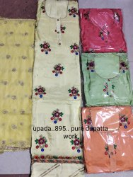 4 Colour Semi Stitched Party Wear Embroidery Suits