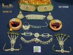 Golden Alloy Rajputi Jewellery Combo Set