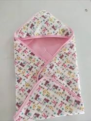 pink blue peach green Little Cubs Cotton Baby Swaddle Cum Wrapper