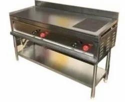 Stenless Steel Chapati Bhatti, Number of Burners: 2 Burnur, Size: 27x48x30