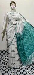 SURAJ Handlooms 6.3 m (with blouse piece) Ikat Handloom Saree