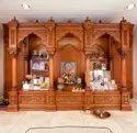 Carved Teak Wood Temple Mandir