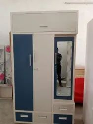 Iron More than 3 Doors Steel Wall Fitted Almirah, With Locker