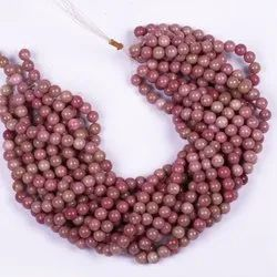Pink Rhodonite Stone Beads