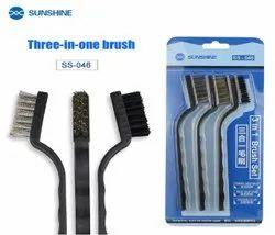 Sunshine SS-046 3 in 1 Mobile Phone Repair Anti Static Steel Brush