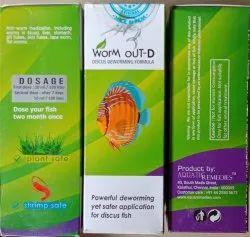 Aquatic Remedies Worm Out-d, For Aquarium Fish, Packaging Size: 60ml
