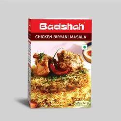 Badshah Chicken biryani masala, Packaging Size: 50 g, Packaging Type: Box