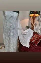Formal Wear Straight Chikankari Embroidery Kurtis, Wash Care: Dry clean