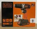 Black & Decker 18Volt Cordless Drill Driver with 1Battery & 1Charger
