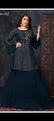 Embroidered Fancy Party Wear Dress