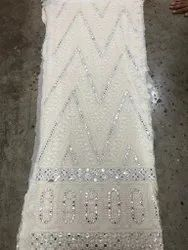 Embroidered Viscos Georgette Big Pnna Embroidery Work, For Suit